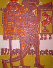 HAP Grieshaber: Der Herold, 1966