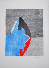 Giuseppe Santomaso: Rosso e nero gotico, 1982