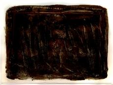 Antoni Tàpies: L. in schwarz, Siena-braun und rot, 1963