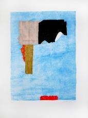 Giuseppe Santomaso: Rossi in contrasto, 1984