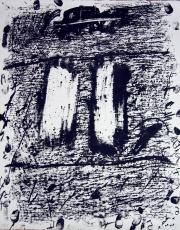Antoni Tàpies: L. in schwarz-weiß, 1970