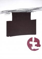 Antoni Tàpies: L. mehrfarbig mit Relief-Prägung, 1976
