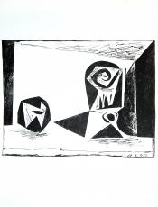 Pablo Picasso: Composition au verre à pied, 1947