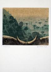 Karl Rössing: Toskanische Landschaft, 1975
