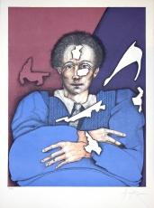 Eduardo Arranz-Bravo: Home formes blancas,  1980