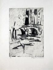 Wolff Buchholz: Pont St. Michel Paris, 1959