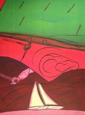 Valerio Adami: En Solitaire, 1984