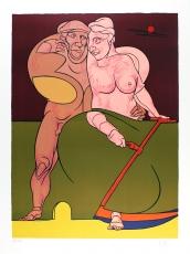 Valerio Adami: Picasso et la femme neo-classique , 1983