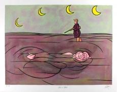Valerio Adami: Paysage de ruines, 1981