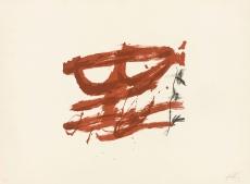 Antoni Tàpies: L. in schwarz und zwei braun, 1970