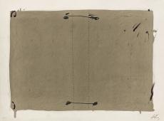Antoni Tàpies: L. in schwarz, bister und zwei grau, 1970