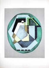 Mario Radice: Compositione Astratta Verde, 1985