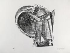 Rudolf Belling: Entwurf für Metallplatten und Draht II, 1967