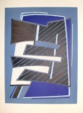 Alberto Magnelli: Composizione in Azzuro, 1965