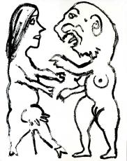 A.R. Penck: Deutsch Russische Verwandlung, 1989