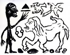 A.R. Penck: Willst du oder willst du nicht, 1989