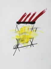 Antoni Tàpies: La main jaune, 1973