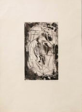 Emil Schumacher: Etching in black, 1959