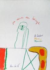 Horst Antes: Geh durch den Spiegel, 1963