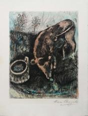 Marc Chagall: La grenouille qui veut se faire aussi grosse que le boeuf, 1952