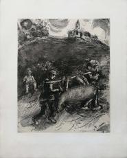 Marc Chagall: Le Meunier, son Fils et lAne, 1952