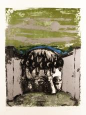Sergio Vacchi: Selbstbildnis , 1965