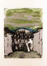 Sergio Vacchi: Selbstbildnis (2), 1965