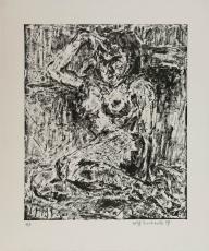 Wolff Buchholz: Sitzender Akt , 1959