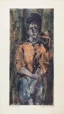 Wolff Buchholz: Sitzende Frau, 1959