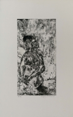 Wolff Buchholz: sitzender Akt 1.Zustand, 1960
