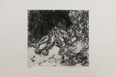 Wolff Buchholz: Sitzender Akt , 1960