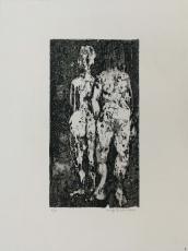 Wolff Buchholz: Zwei stehende Akte, 1960