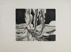 Wolff Buchholz: Steinfiguren von Aven Armand, 1965