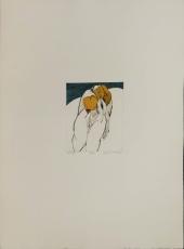 Wolff Buchholz: Kleine Figur vor Horizont, 1969