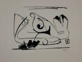 Bram van Velde: Lithographie en noir et blanc, 1939