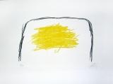 Antoni Tàpies: L. in schwarz und gelb, 1969