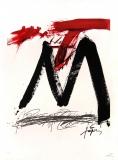 Antoni Tàpies: L. in schwarz, rot und grau, 1972