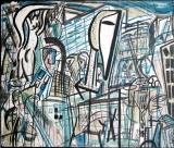 Veit Hoffmann:Stadtlandschaft I, 1986