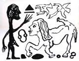 A.R. Penck: Willst du oder willst du nicht, 1989 (variant)