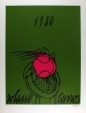 Valerio Adami: ROLAND GAROSS (vert), 1980