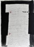Antoni Tàpies: L. in schwarz, grau und rot, 1966