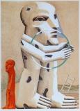 Horst Antes: Gefleckte Figur mit Reif, 1982