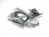 Rudolf Belling: Entwurf für Metallplatten und Draht I, 1967