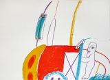 Horst Antes: Geh durch den Spiegel II, 1963