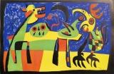 Joan Miró: PERRO LADRANDO A LA LUNA, 1952