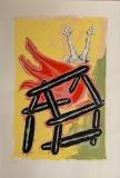 ohne Titel (brennendes Haus), 2001