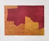 Serge Poliakoff: Composition lie-de-vin et orange, 1963