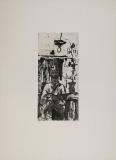 Wolff Buchholz: Selbst zeichnend, 1958